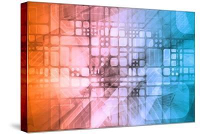 Cybernetics Mechanical Design as a Blueprints Art-kentoh-Stretched Canvas Print