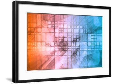 Cybernetics Mechanical Design as a Blueprints Art-kentoh-Framed Art Print