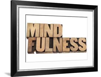 Mindfulness-PixelsAway-Framed Art Print