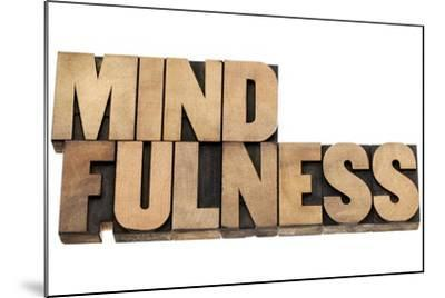 Mindfulness-PixelsAway-Mounted Art Print