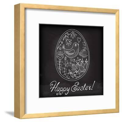 Easter Egg Drawn by Hand-Baksiabat-Framed Art Print