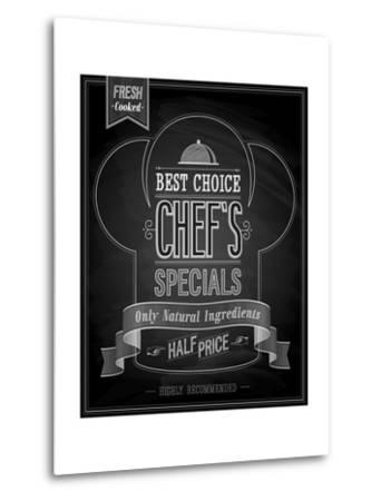 Chef's Specials Poster Chalkboard-avean-Metal Print