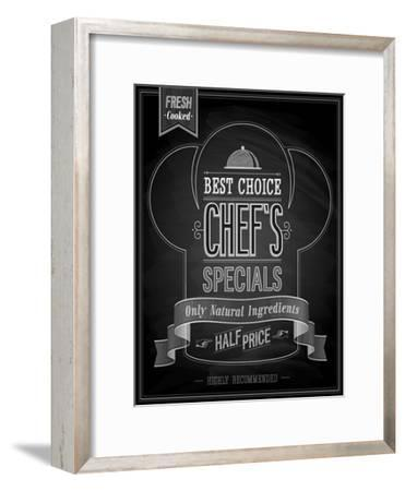 Chef's Specials Poster Chalkboard-avean-Framed Art Print