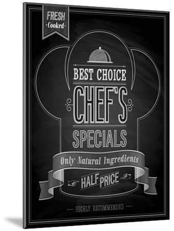 Chef's Specials Poster Chalkboard-avean-Mounted Art Print