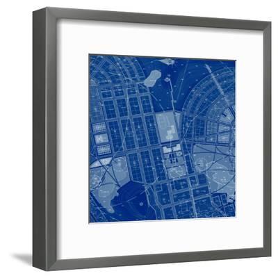 Blue Drawing-Andreyuu-Framed Art Print