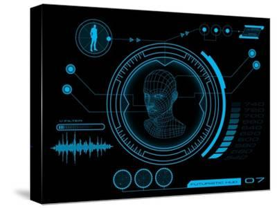 Futuristic User Interface HUD- clusterx-Stretched Canvas Print