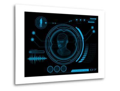 Futuristic User Interface HUD- clusterx-Metal Print