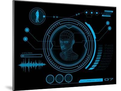 Futuristic User Interface HUD- clusterx-Mounted Art Print
