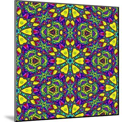 Floral Kaleidoscope Pattern-PandaWild-Mounted Art Print
