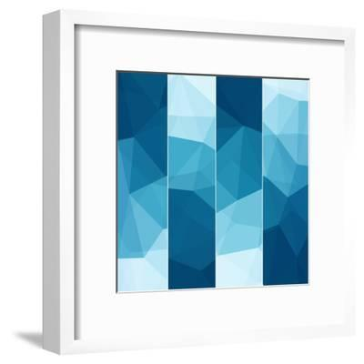 Set of Abstract Blue Background-epic44-Framed Art Print