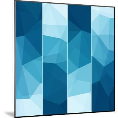 Set of Abstract Blue Background-epic44-Mounted Art Print