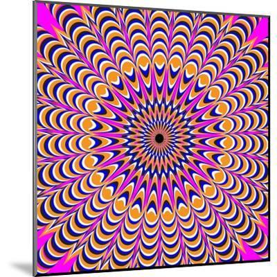 Psychedelic Pink-Nemosdad-Mounted Art Print