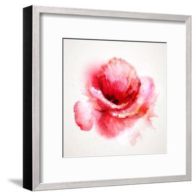The Flowering Red Poppy-artant-Framed Art Print