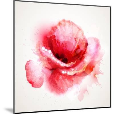 The Flowering Red Poppy-artant-Mounted Art Print