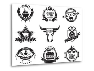 Set of Elements for a Restaurant Designs-Alexkava-Metal Print