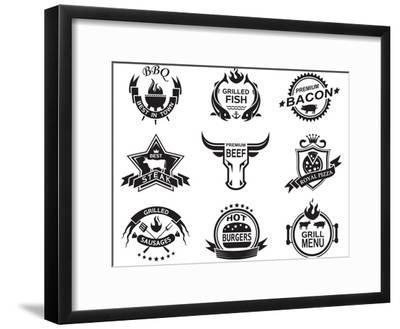 Set of Elements for a Restaurant Designs-Alexkava-Framed Art Print