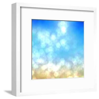 Beach under Sun Shot in Manual Mode Out of Focus-VibrantImage-Framed Art Print