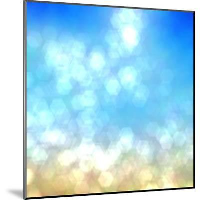 Beach under Sun Shot in Manual Mode Out of Focus-VibrantImage-Mounted Art Print
