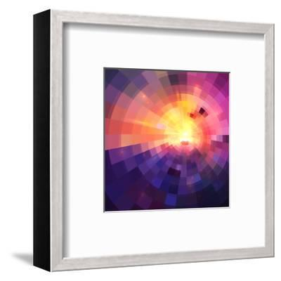 Abstract Colorful Shining Circle Tunnel Background-art_of_sun-Framed Art Print