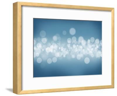 Blurred Bokeh Abstract Background-karandaev-Framed Art Print