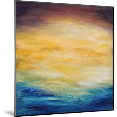 Beautiful Abstract Textured Background of Evening Sunset Sky over the Ocean-Acik-Mounted Art Print