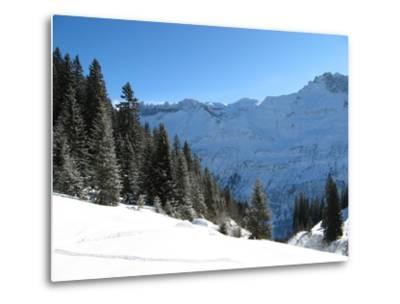 Winter Landscape (Winter in Swiss Alps)-swisshippo-Metal Print