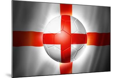Soccer Football Ball with England Flag-daboost-Mounted Art Print