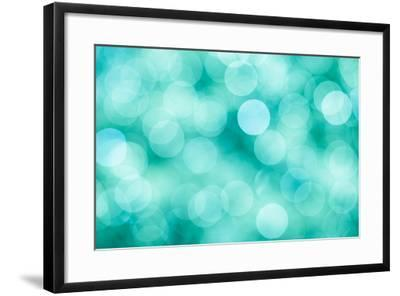 Blue, Green and Turquoise Festive Background-Mila May-Framed Art Print
