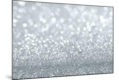 Silver Glitter Background-Rangizzz-Mounted Premium Giclee Print