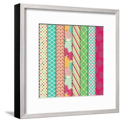 Collection of Bright and Colorful Backgrounds or Digital Papers-Pink Pueblo-Framed Art Print