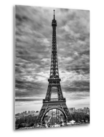 Eiffel Tower, Paris, France - Black and White Photography-Philippe Hugonnard-Metal Print
