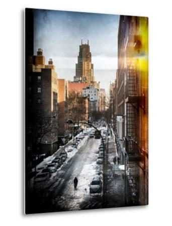 Instants of NY Series - Urban Snowy Winter Landscape-Philippe Hugonnard-Metal Print