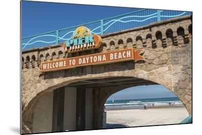 USA, Florida, Daytona Beach, Welcome sign to Main Street Pier.-Lisa S^ Engelbrecht-Mounted Photographic Print