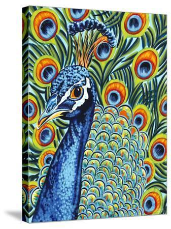 Plumed Peacock I-Carolee Vitaletti-Stretched Canvas Print