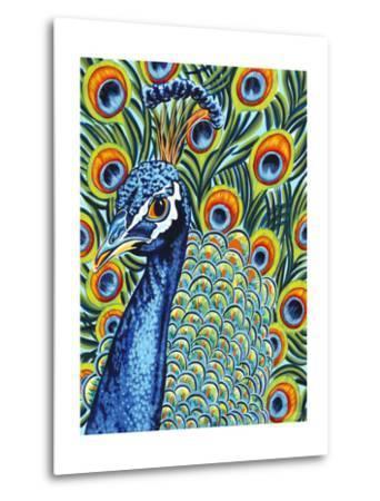 Plumed Peacock I-Carolee Vitaletti-Metal Print