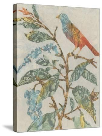 Aviary Collage II-Megan Meagher-Stretched Canvas Print