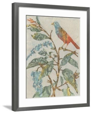 Aviary Collage II-Megan Meagher-Framed Art Print