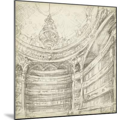 Interior Architectural Study II-Ethan Harper-Mounted Premium Giclee Print