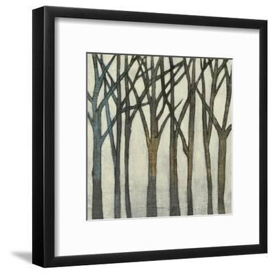 Birch Line II-Jennifer Goldberger-Framed Art Print