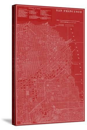 Graphic Map of San Francisco-Vision Studio-Stretched Canvas Print