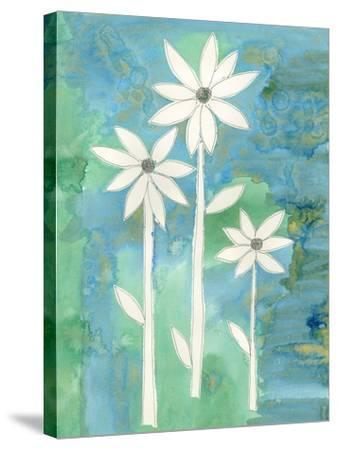 Dainty Daisies II-Alicia Ludwig-Stretched Canvas Print