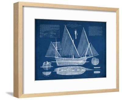 Antique Ship Blueprint III-Vision Studio-Framed Art Print