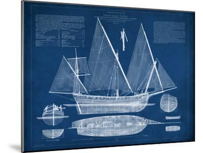 Antique Ship Blueprint III-Vision Studio-Mounted Art Print