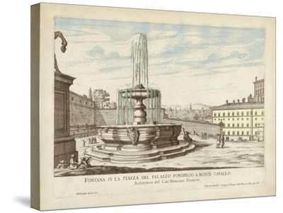 Fountains of Rome V-Vision Studio-Stretched Canvas Print