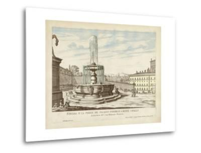 Fountains of Rome V-Vision Studio-Metal Print