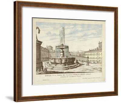Fountains of Rome V-Vision Studio-Framed Art Print