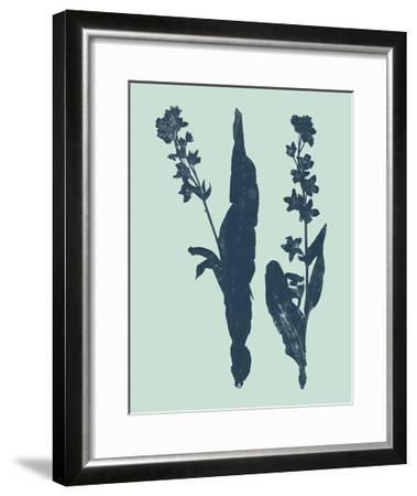 Indigo and Mint Botanical Study VIII-Vision Studio-Framed Art Print