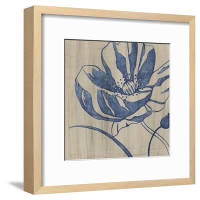 Indigo Poppy-Chariklia Zarris-Framed Art Print