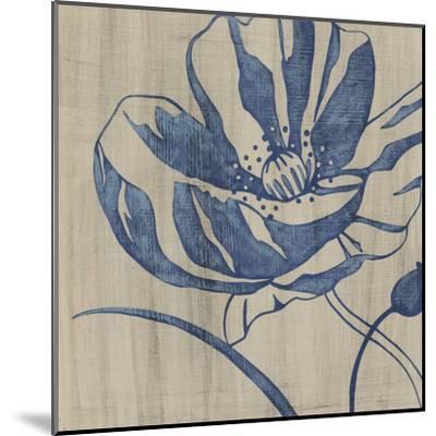 Indigo Poppy-Chariklia Zarris-Mounted Art Print