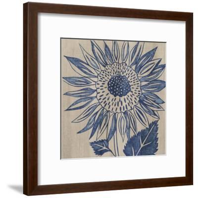Indigo Sunflower-Chariklia Zarris-Framed Art Print